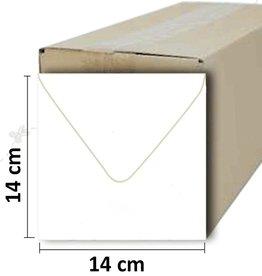 Square white envelope 14 * 14cm