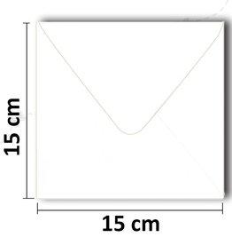 Square white envelope 154 * 154mm