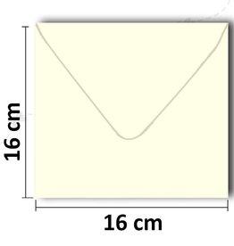 Envelopes square cream 16 * 16 cm
