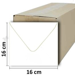 Firkantet hvid kuvert 16 * 16cm