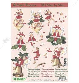 Romak Fées de Noël Feuille 3D Romak Ritva