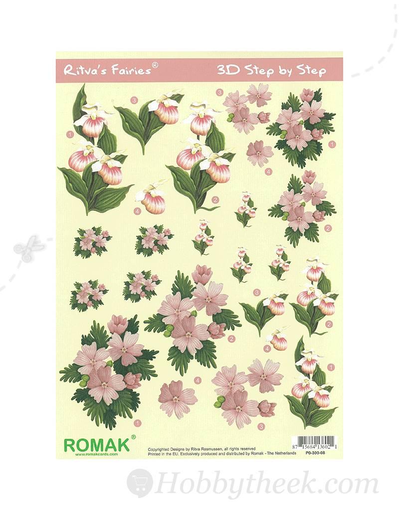 Romak 3D sheet Romak Ritva's Flower Fairies