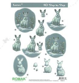 Romak Feuille 3D Romak Hare Lapin