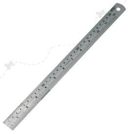 Lineal 30 cm stål