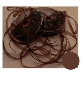 Central Craft Collection Ruban organza 6mm Brown