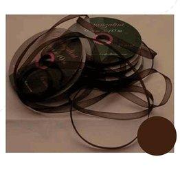 Central Craft Collection Ribbon Organza 6mm Mørk brun