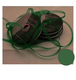 Central Craft Collection Ribbon Organza 6mm Green