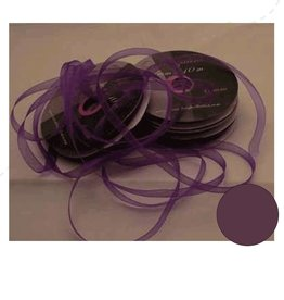 Central Craft Collection Ribbon Organza 6mm Deep Purple