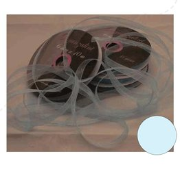 Central Craft Collection 6mm Ribbon Organza Baby Blå