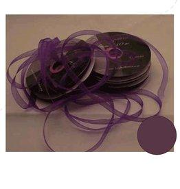 Central Craft Collection Ruban Organza 3mm Deep Purple