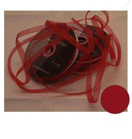 Central Craft Collection Organza de Noël Ruban Rouge 3mm