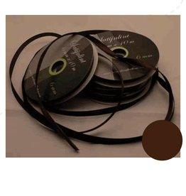 Central Craft Collection 6mm ruban satin marron foncé