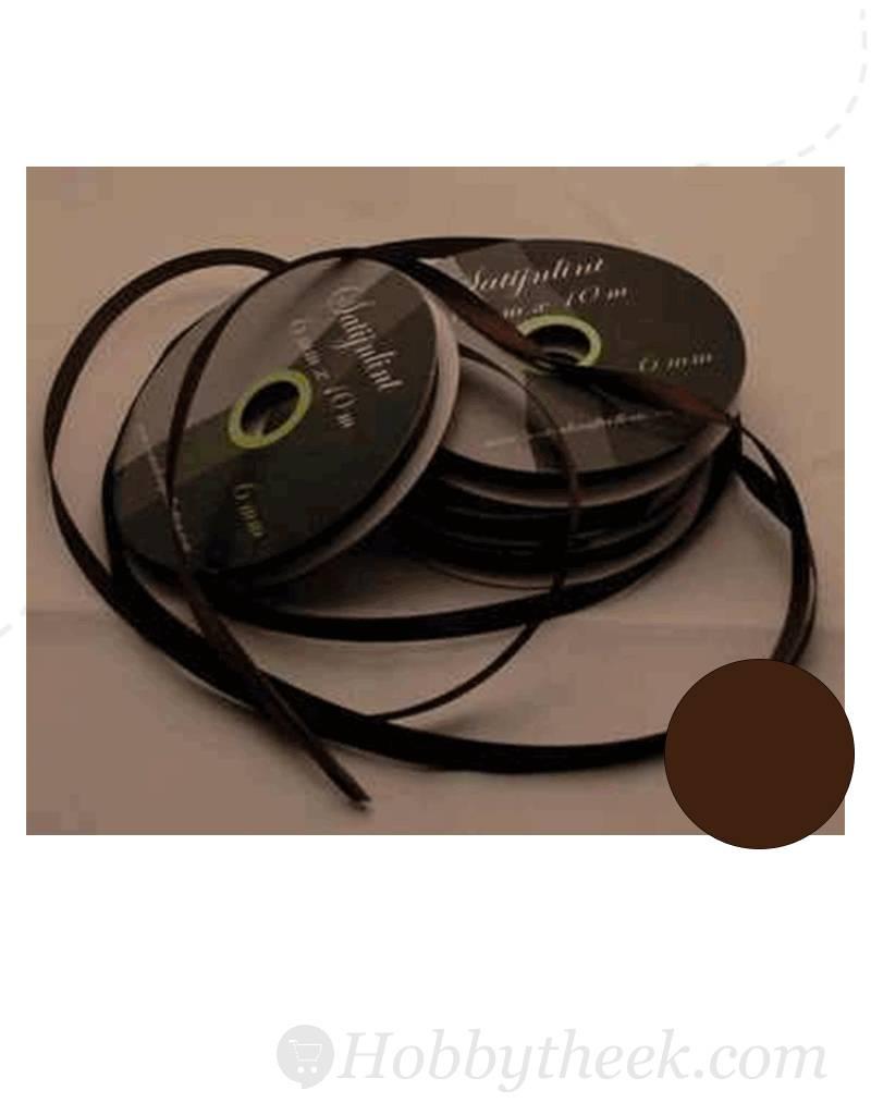 Central Craft Collection 6mm satinbånd Dark Brown