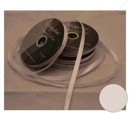 Central Craft Collection 6mm Satin Ribbon White