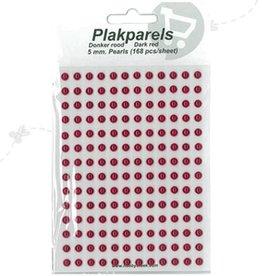 Hobbytheek Collez Perles Dark Red -Dark Red 5 mm