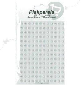Hobbytheek Pind perler Hvid-Hvid 5mm