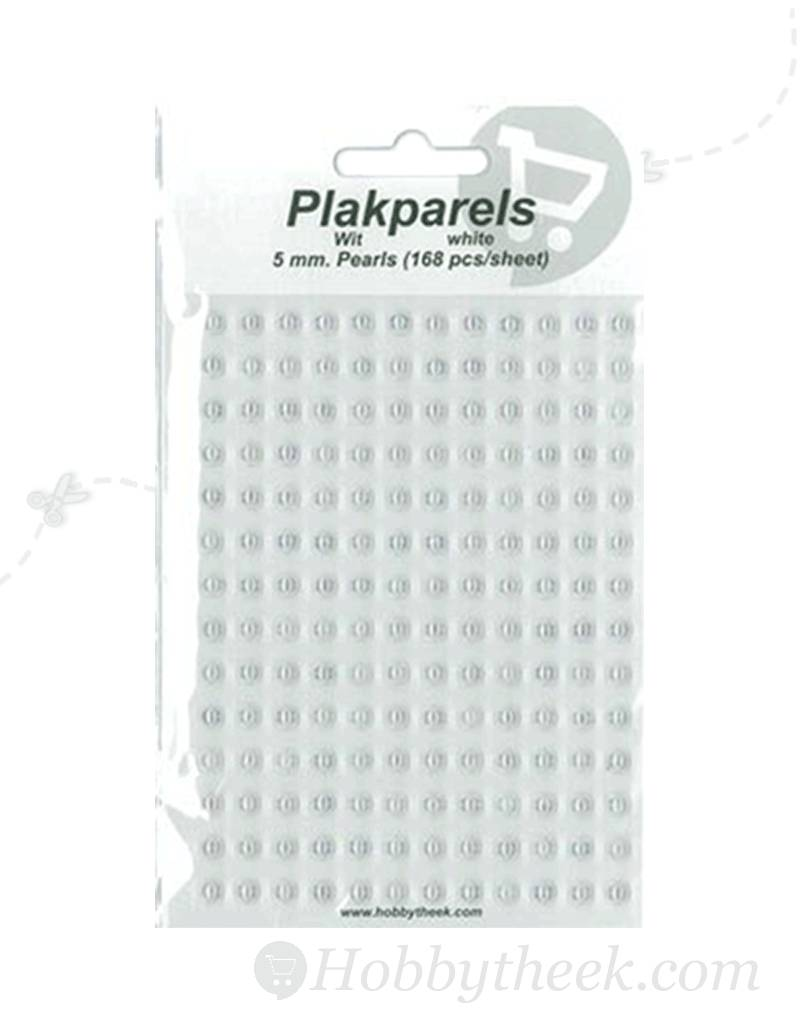 Hobbytheek Stick Pearls White-White 5mm