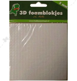 Hobbycentraal foamblokjes 2mm