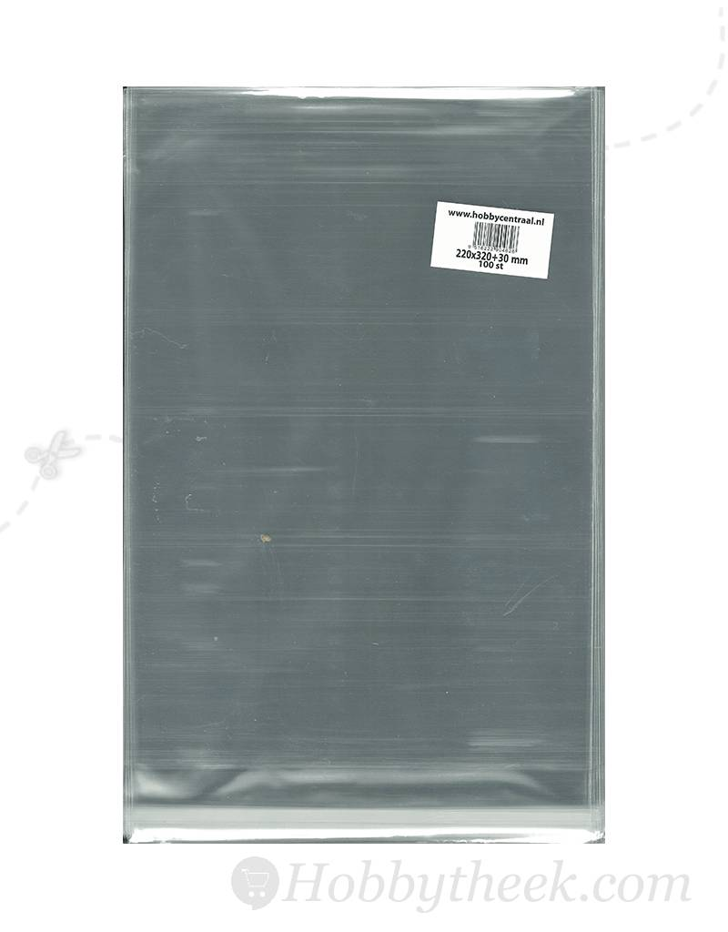 Hobbycentraal A4 bags with adhesive strip 100st 220x320x40
