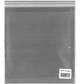 Hobbycentraal Square Card bags with adhesive strip 100st 180x180x25