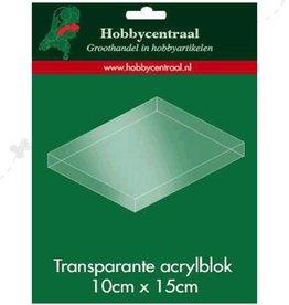 Hobbycentraal Acrylic block 10x 15 cm