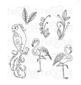 Heartfelt Tropical Paradise Cling Stamp Set
