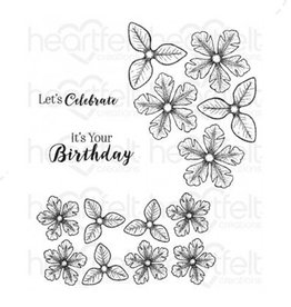 Heartfelt Small Classic Petunia Cling Stamp Set