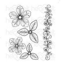 Heartfelt Large Classic Petunia Cling Stamp Set