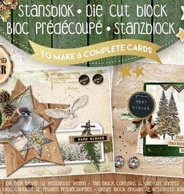 Studiolight STANSBLOK A5, CONTENT 12 SHEETS DIE CUT FOLIE, WOODLAND WINTER