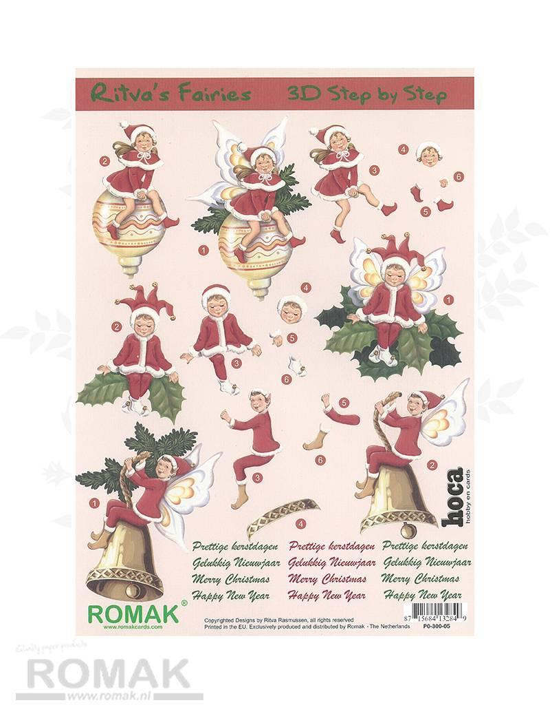 Romak 3D sheet Romak Ritva's Fairies Christmas