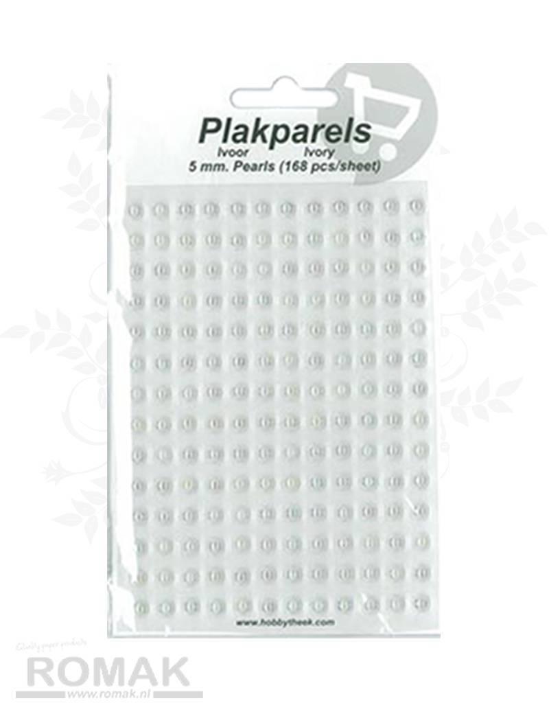 Hobbytheek Paste Beads Ivory-Ivory 5mm