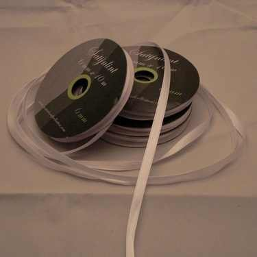 Central Craft Collection 3mm Satin Ribbon White