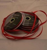 Central Craft Collection 3mm Satin Ribbon Red Christmas