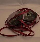 Central Craft Collection 6mm satinbånd Mørkerød