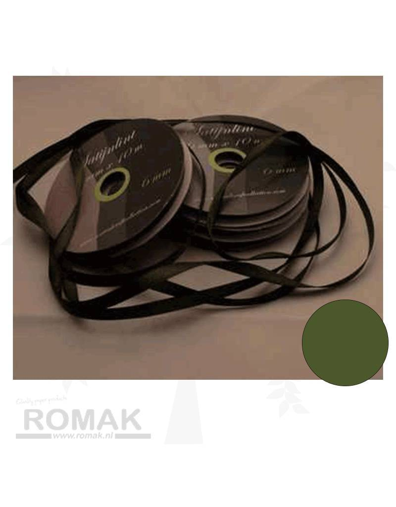 Central Craft Collection 6mm Satin Ribbon Green