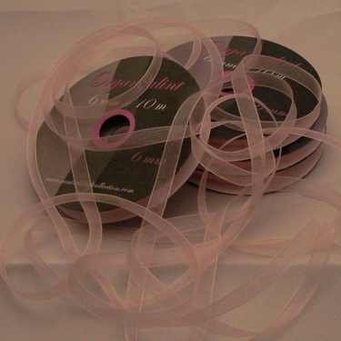 Central Craft Collection 3mm Ribbon Organza Baby Pink