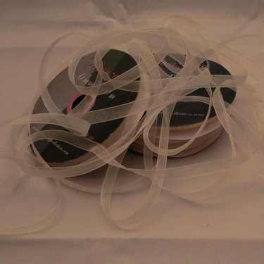 Central Craft Collection 3mm Ribbon Organza Ivory