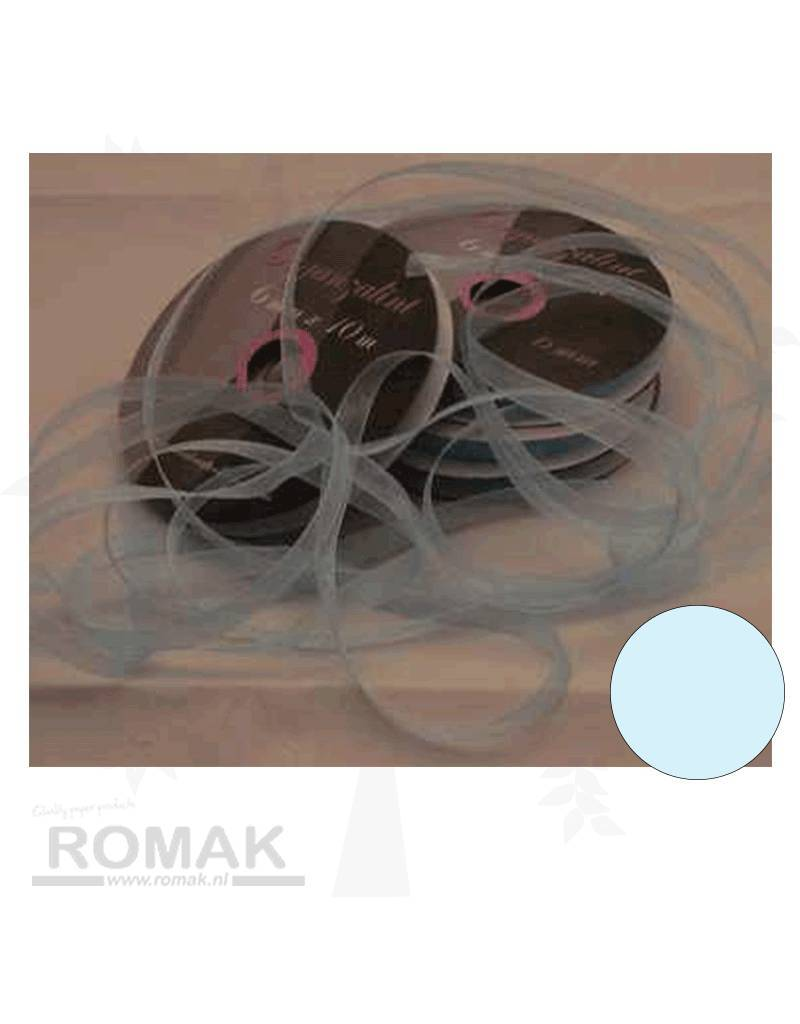 Central Craft Collection 6mm Ribbon Organza Baby Blue