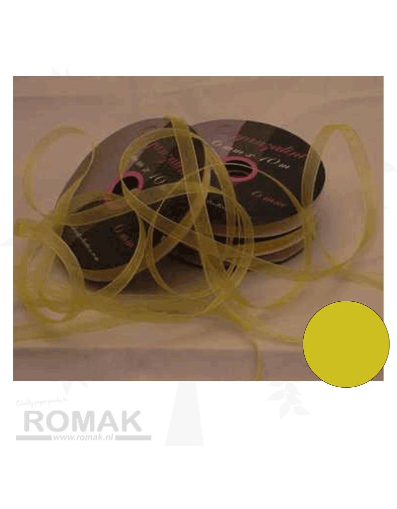 Central Craft Collection 6mm Yellow Ribbon Organza