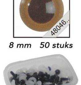LeSuh Veiligheids Ogen mokka 8mm 50st