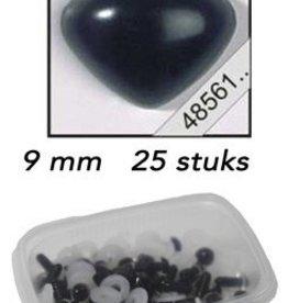 LeSuh Driehoeks neus zwart 9mm 25 st