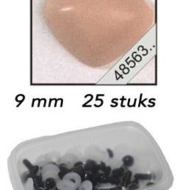 LeSuh Driehoeks neus zalm 9mm 25 st