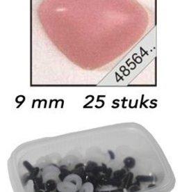 LeSuh Driehoeks neus rose 9mm 25 st