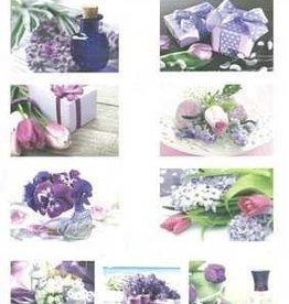 Hobbytheek Fotovellen Bloemen paars Hobbytheek