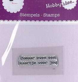 Hobby Idee Stempel: Zomaar even een kaartje voor jou