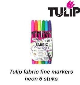 Tulip Tulip fabric markers fine neon 6 st