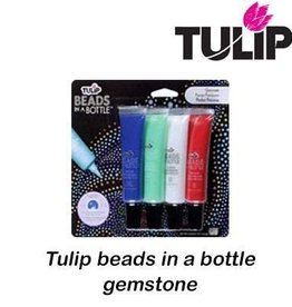 Tulip Tulips beads in a bottle  gemstone