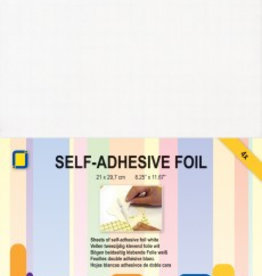 Je Je Produkt 2-sided adhesive foil white 4 sheets A4
