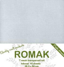 Romak Plastic stramien 7 mesh 10 sheets