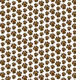Hobby Idee HI A4 Basisvel Hondenpootjes Bruin